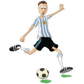 アルゼンチンのサッカーの選手 — ストックベクタ