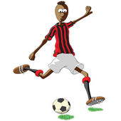AC Milan soccer player — Stock Vector