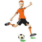 Hollanda futbol oyuncusu — Stok Vektör