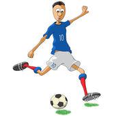 Giocatore di calcio francia — Vettoriale Stock