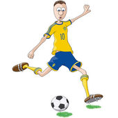 Sweden soccer player — Stock Vector