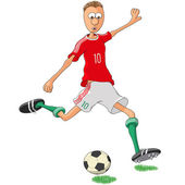 Hungary soccer player — Stock Vector