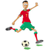 Portugal soccer player — Stock Vector