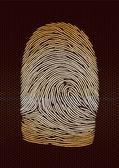 Fingerprint — Stockvector