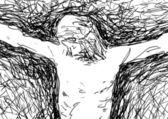 Jesus crucified — Stock Vector