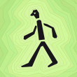 Person walking — Stockvectorbeeld