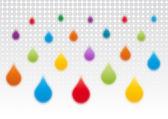 Colored drops — Vector de stock