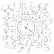 Clock numbers — Image vectorielle