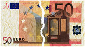 Money torn — Stock Photo