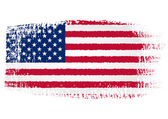 Brushstroke Flag United States with transparent background — Stock Vector