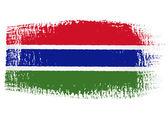 Brushstroke flag Gambia — Stock Vector