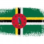 Постер, плакат: Brushstroke flag Dominica