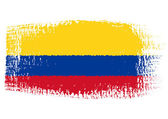 Brushstroke flag Colombia — Stock Vector