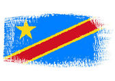 Brushstroke flag Democratic Republic of the Congo — Stock Vector