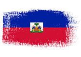Brushstroke flag Haiti — Stock Vector