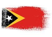 Brushstroke flag East Timor — Stock Vector