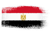 Brushstroke flag Egypt — Stock Vector