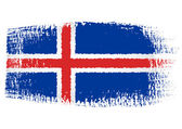 Brushstroke flag Iceland — Stock Vector