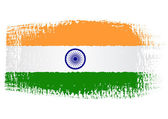 Brushstroke flag India — Stockvector