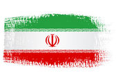Brushstroke flag Iran — Stockvector