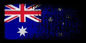 Brushstroke flag Australia — Stock Vector