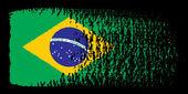 笔画国旗巴西 — 图库矢量图片