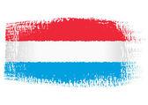 Brushstroke flag Luxembourg — Stock Vector