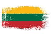 Brushstroke flag Lithuania — Stock Vector