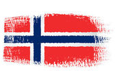 Brushstroke flag Norway — Stock Vector
