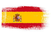 Brushstroke flag Spain — Stock Vector