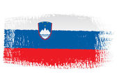 Brushstroke flag Slovenia — Stock Vector