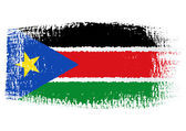 Brushstroke flag South Sudan — Vector de stock