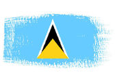 Brushstroke flag Saint Lucia — Stock Vector