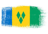 Brushstroke flag Saint Vincent and the Grenadines — Stock Vector