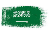 Brushstroke flag Saudi Arabia — Stock Vector