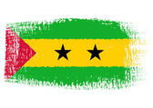 Brushstroke flag Sao Tome and Principe — Stock Vector