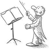 Direttore d'orchestra — Vettoriale Stock
