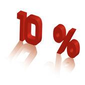 Ten percent — Stock Vector