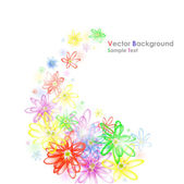Colorful flower banner — Stock Vector