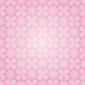 Pink floral seamless wallpaper — Stock Vector