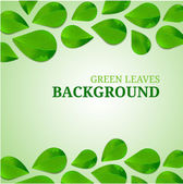 Green leaves abstract background. Vector illustration. — Stock Vector