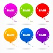 Set colorful babi balls. - Stock Vector