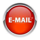 Bouton internet e-teken pictogram rood — Stockvector