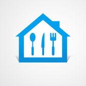 Abstract set kitchen house logo — Stock Vector