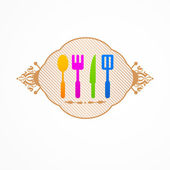 Abstract set kitchen label — Stock Vector