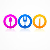 Abstract set kitchen icon — Stock Vector