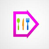 Abstract set kitchen arrow — Stock Vector