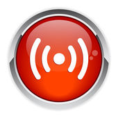 Bouton internet radio red — Stock Vector