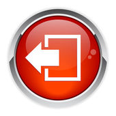 Output disconnect button Internet icon red — Vettoriale Stock