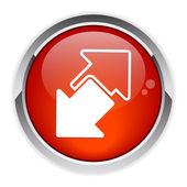 Internet connection disconnect button arrow icon red — Stock Vector